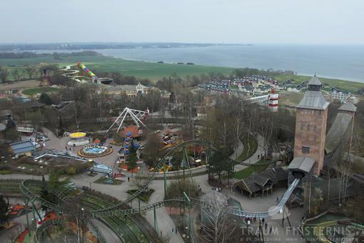 Hansa-Park Luftbild mit dem Fluch von Novgorod