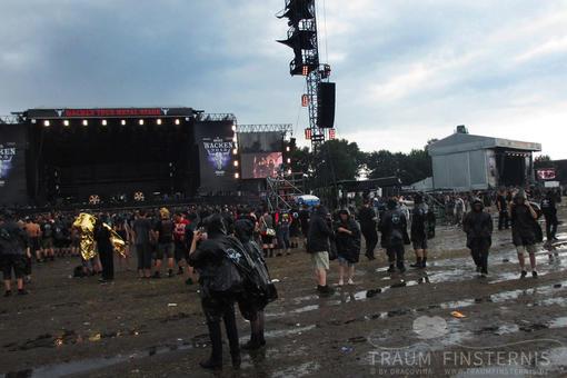 Es kann auch während eines Konzertes regnen