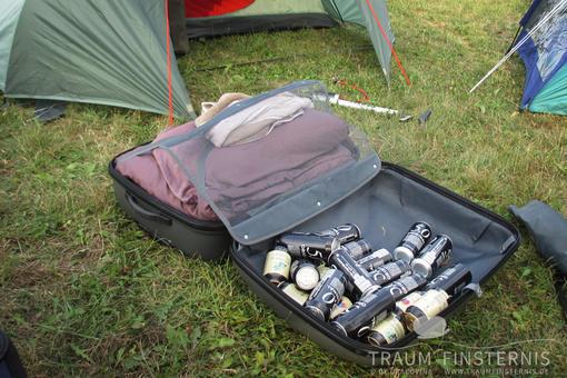 Getränke auf einem Festival