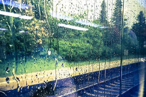 Regen im Zug